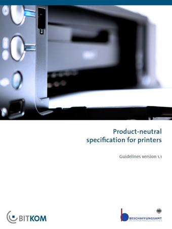 Product-neutral specification for printers
